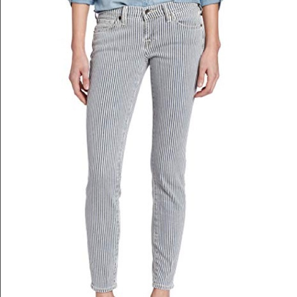 Lucky Brand Denim - Lucky Brand Blue & White Striped Jeans
